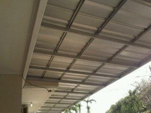 kanopi minimalis bajaringan atap spandek